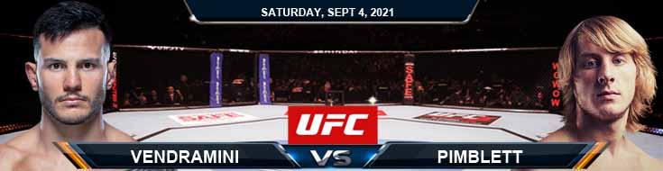 UFC Fight Night 191 Vendramini vs Pimblett 09-04-2021 Analysis Odds and Picks
