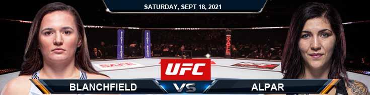 UFC Fight Night 192 Blanchfield vs Alpar 09-18-2021 Odds Picks and Predictions