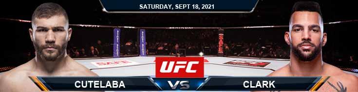 UFC Fight Night 192 Cutelaba vs Clark 09-18-2021 Odds Picks and Predictions