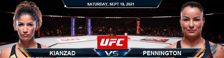UFC Fight Night 192 Kianzad vs Pennington 09-18-2021 Analysis Fight Forecast and Tips
