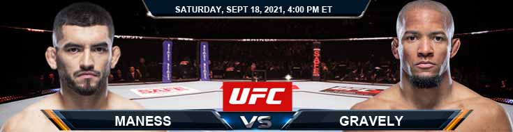 UFC Fight Night 192 Maness vs Gravely 09-18-2021 Forecast Tips and Analysis