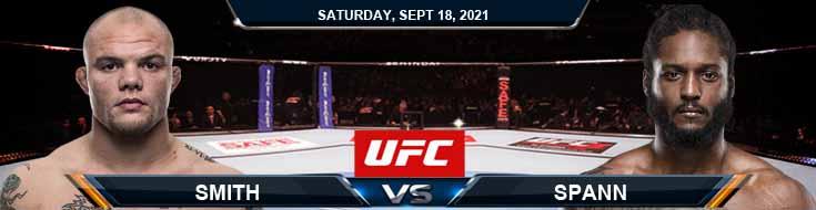 UFC Fight Night 192 Smith vs Spann 09-18-2021 Fight Analysis Odds and Picks