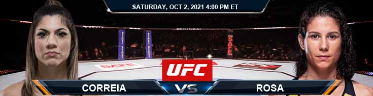 UFC Fight Night 193 Correia vs Rosa 10-02-2021 Analysis Odds and Picks