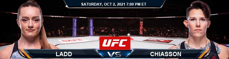 UFC Fight Night 193 Ladd vs Chiasson 10-02-2021 Spread Fight Analysis and Forecast