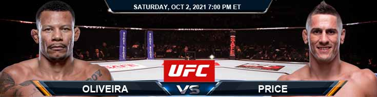 UFC Fight Night 193 Oliveira vs Price 10-02-2021 Predictions Game Previews and Spread