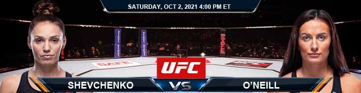 UFC Fight Night 193 Shevchenko vs O'Neill 10-02-2021 Tips Fight Analysis and Odds