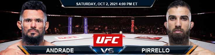 UFC Fight Night 193 Silva de Andrade vs Pirrello 10-02-2021 Picks Fight Predictions and Previews