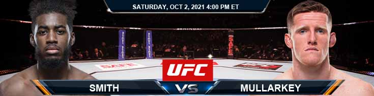 UFC Fight Night 193 Smith vs Mullarkey 10-02-2021 Odds Picks and Predictions