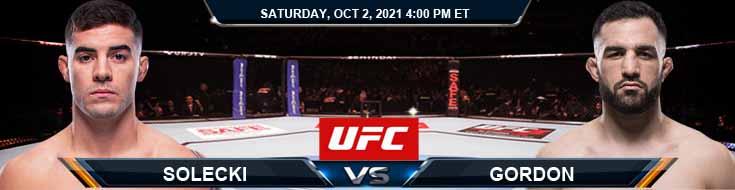 UFC Fight Night 193 Solecki vs Gordon 10-02-2021 Forecast Betting Tips and Analysis
