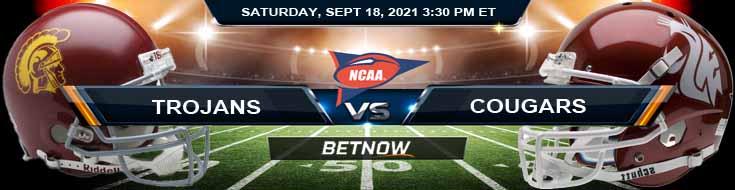 USC Trojans vs Washington State Cougars 09-18-2021 Football Betting Tips and Analysis