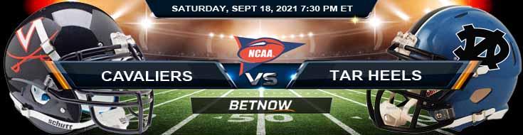 Virginia Cavaliers vs North Carolina Tar Heels 09-18-2021 Odds Previews and Analysis