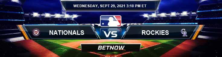 Washington Nationals vs Colorado Rockies 09-29-2021 Baseball Odds Game Preview and Tips