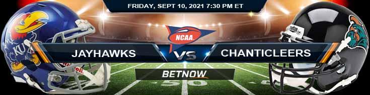 Week 2's Best College Football Bets on the Kansas and Coastal Carolina 09-10-2021 Match