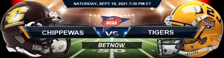 Week 3 Football Analysis on Central Michigan Chippewas vs LSU Tigers 09-18-2021 at Tiger Stadium