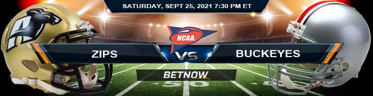 Week 4 of College Football Betting Prediction Akron Zips vs Ohio State Buckeyes 09-25-2021