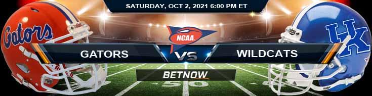 2021 College Football Picks for Florida Gators vs Kentucky Wildcats 10-02-2021