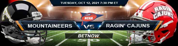 Appalachian State Mountaineers vs Louisiana Ragin' Cajuns 10-12-2021 Football Betting Odds and Predictions