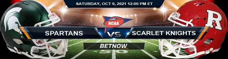Best Wagering Tips for Saturday Night's Game Michigan State Spartans vs Rutgers Scarlet Knights 10-09-2021