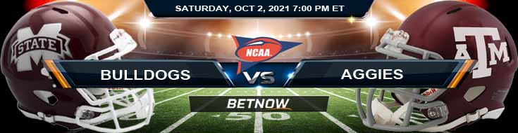 BetNow's Best Betting Preview for Saturday's Mississippi State Bulldogs vs Texas A&M Aggies 10-02-2021