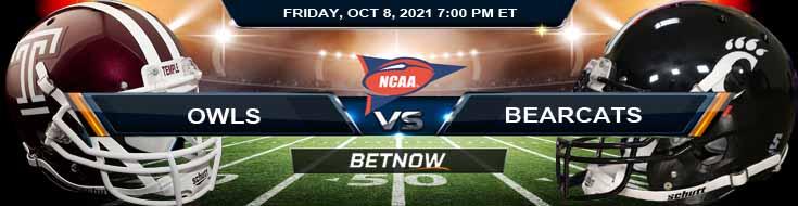 BetNow's Favorite Predictions for the Temple and Cincinnati 10-08-2021 Game at Nippert Stadium