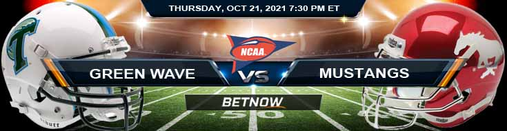 BetNow's Top Bets for the Green Wave and Mustangs 10-21-2021 College Football Match