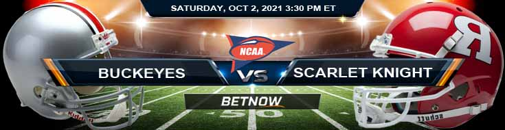 Betting Odds for the College Football Match Between Ohio State and Rutgers 10-02-2021