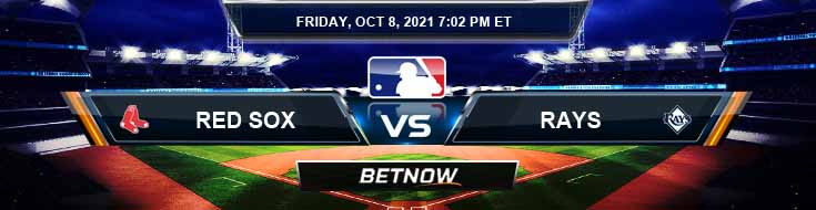 Boston Red Sox vs Tampa Bay Rays 10-08-2021 American League Division Series Game 2 Odds