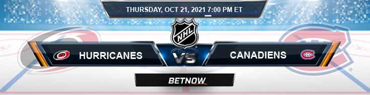 Carolina Hurricanes vs Montréal Canadiens 10-21-2021 Tips Forecast and Analysis