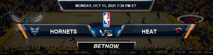 Charlotte Hornets vs Miami Heat 10-11-2021 Spread Previews and Prediction
