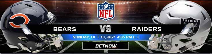 Chicago Bears vs Las Vegas Raiders 10-10-2021 Picks Predictions and Analysis