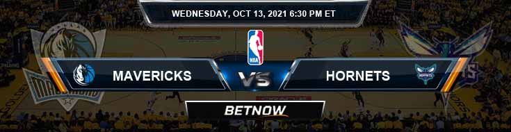 Dallas Mavericks vs Charlotte Hornets 10-13-2021 Odds Picks and Previews