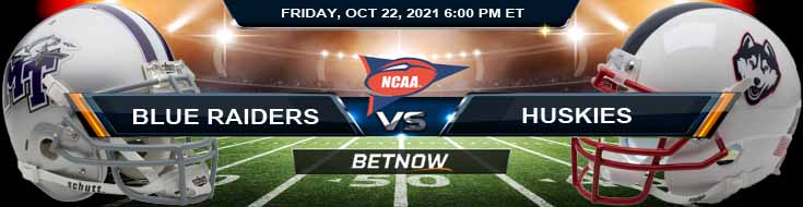 Friday Night's Best Predictions for Middle Tennessee Blue Raiders vs UConn Huskies 10-22-2021