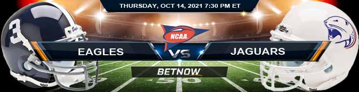 Georgia Southern Eagles vs South Alabama Jaguars 10-14-2021 Odds Picks and Predictions