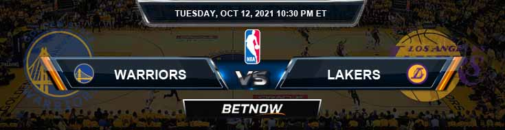 Golden State Warriors vs Los Angeles Lakers 10-12-2021 NBA Odds and Picks