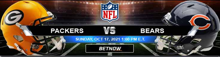 Green Bay Packers vs Chicago Bears 10-17-2021 Predictions Football Betting and Previews