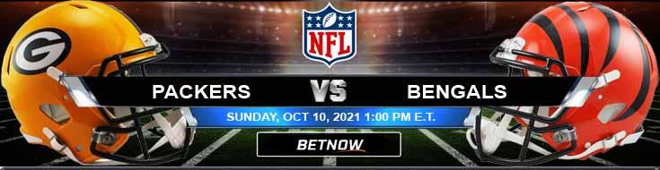 Green Bay Packers vs Cincinnati Bengals 10-10-2021 Odds Picks and Predictions
