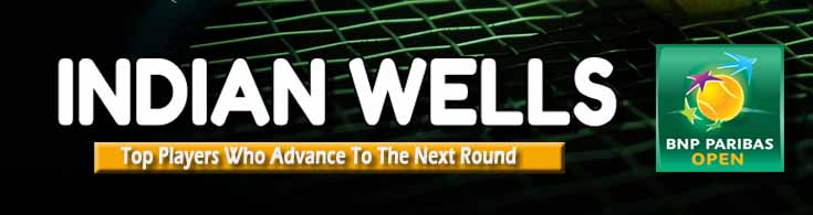Indian Wells Top players who Advance to the Next Round
