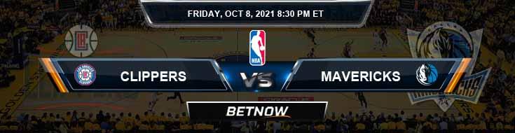 Los Angeles Clippers vs Dallas Mavericks 10-8-2021 NBA Spread and Picks
