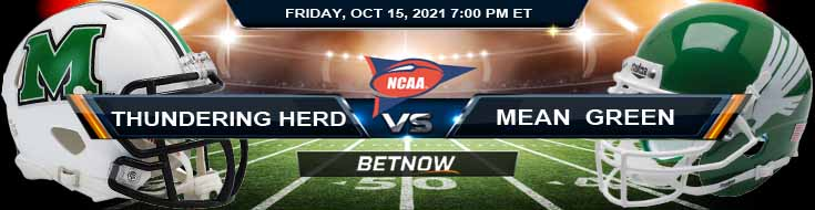 Marshall Thundering Herd vs North Texas Mean Green 10-15-2021 Tips Forecast and Analysis