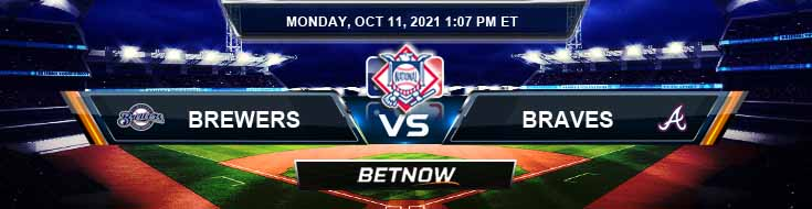 Milwaukee Brewers vs Atlanta Braves 10-11-2021 National League Division Series 2021 Top Spread