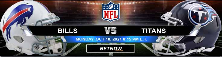 Monday's Top Football Betting Preview for the Bills and Titans 10-18-2021 Match
