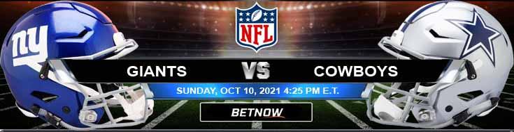 New York Giants vs Dallas Cowboys 10-10-2021 Forecast NFL Analysis and Picks