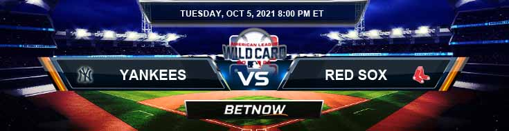 New York Yankees vs Boston Red Sox 10-05-2021 American League Wild Card Game Odds and Picks