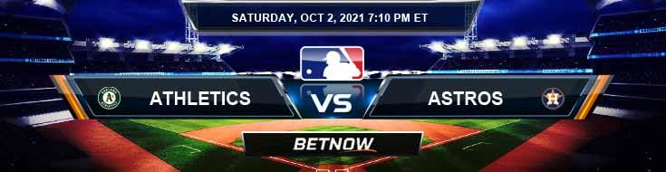 Oakland Athletics vs Houston Astros 10-02-2021 Baseball Preview Game Analysis and Forecast