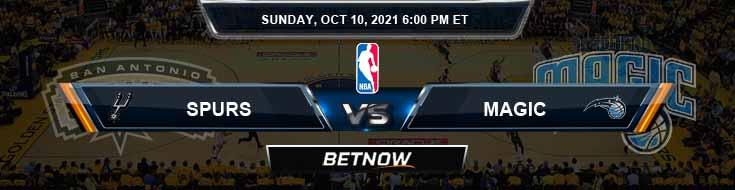 San Antonio Spurs vs Orlando Magic 10-10-2021 Odds Picks and Previews