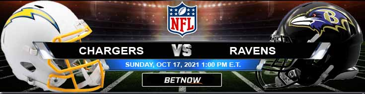 Sunday's Best Bets for Los Angeles Chargers vs Baltimore Ravens 10-17-2021 at M&T Bank Stadium
