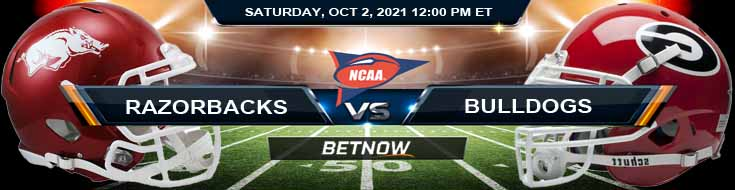 Top Betting Odds for the Razorbacks and Bulldogs 10-02-2021 Match at Sanford Stadium