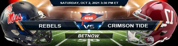 Top Forecast for Saturday's Game Between Rebels and Crimson Tide 10/02/2021
