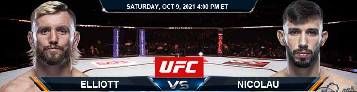 UFC Fight Night 194 Elliott vs Nicolau 10-09-2021 Odds Fight Analysis and Forecast