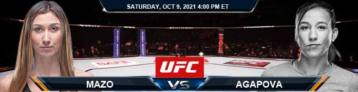 UFC Fight Night 194 Mazo vs Agapova 10-09-2021 Predictions Previews and Spread